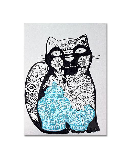"Trademark Global Oxana Ziaka 'Black Cat 1' Canvas Art - 19"" x 14"" x 2"""