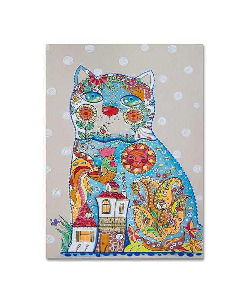 "Trademark Global Oxana Ziaka Cat Canvas Art - 19"" x 14"" x 2"""