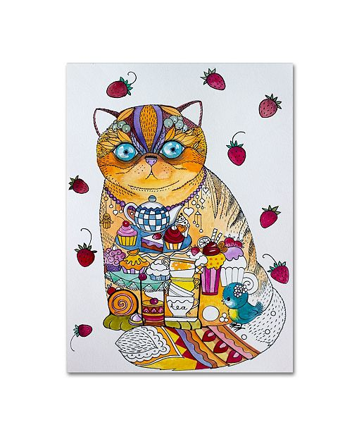 "Trademark Innovations Oxana Ziaka 'Tea And Cupcakes 2' Canvas Art - 19"" x 14"" x 2"""