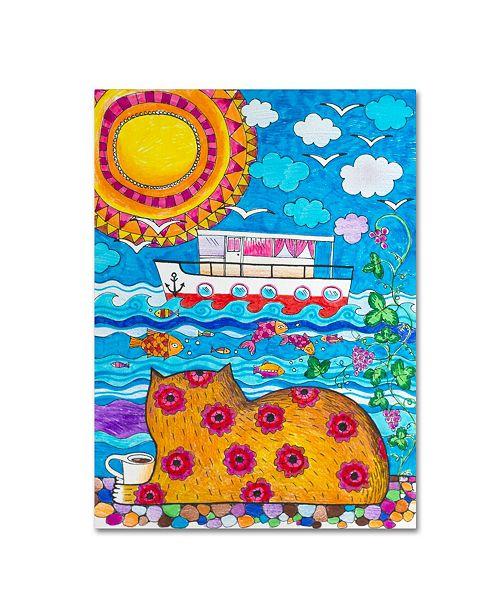"Trademark Innovations Oxana Ziaka 'Voyage-Voyage' Canvas Art - 24"" x 18"" x 2"""
