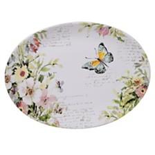 Certified International Spring Meadows Oval Platter