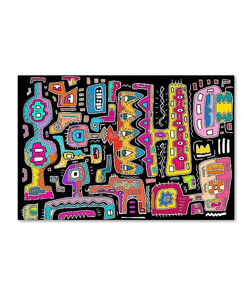 "Trademark Global Miguel Balbas 'Circuits V BBG' Canvas Art - 19"" x 12"" x 2"""