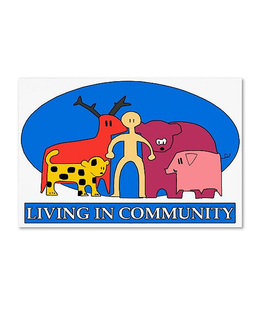 "Trademark Global Miguel Balbas 'Living in Community' Canvas Art - 47"" x 30"" x 2"""