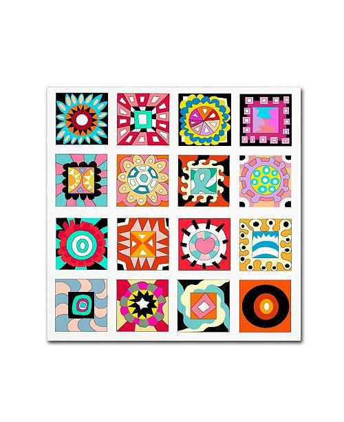"""Trademark Global Miguel Balbas 'Pattern D' Canvas Art - 35"""" x 35"""" x 2"""""""