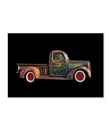 "Lori Hutchison 'Old Rusted Pickup' Canvas Art - 19"" x 12"" x 2"""