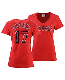 Women's Shohei Ohtani Los Angeles Angels Crew Player T-Shirt