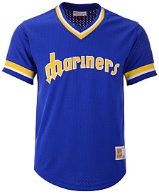 Mitchell & Ness Men's Seattle Mariners MLB Mesh V-Neck Jersey
