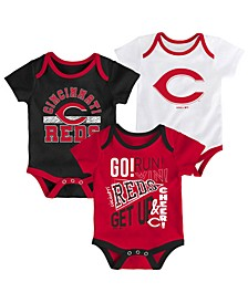 Baby Cincinnati Reds Newest Rookie 3 Piece Bodysuit Set