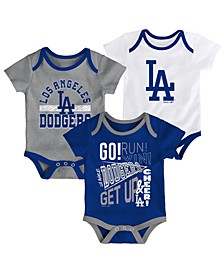 Baby Los Angeles Dodgers Newest Rookie 3 Piece Bodysuit Set