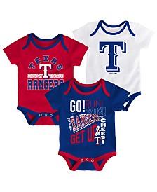Outerstuff Baby Texas Rangers Newest Rookie 3 Piece Bodysuit Set