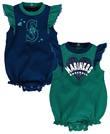 Outerstuff Baby Seattle Mariners Double Trouble Bodysuit Set