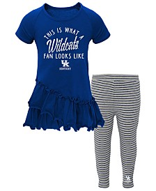 Outerstuff Toddlers Kentucky Wildcats Cheering Ruffle Set