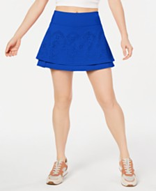 Ideology Performance Perforated Tennis Skort, Created for Macy's