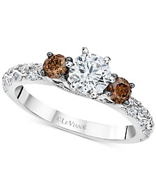 Le Vian Chocolatier® Diamond Ring (1-1/8 ct. t.w.) in 14k White Gold