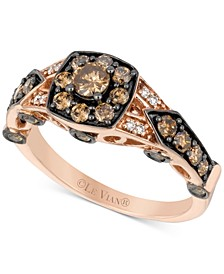 Diamond Ring (1 ct. t.w.) in 14k Rose Gold