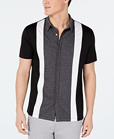 Men's Regular-Fit Stretch Pieced Colorblocked Shirt, Created for Macy's