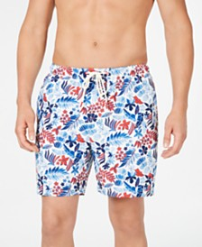"Tommy Bahama Men's Naples Botticelli Floral-Print 6"" Swim Trunks, Created for Macy's"