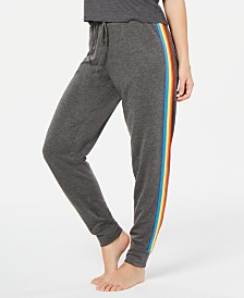 Jenni Rainbow-Stripe Jogger Pajama Pants, Created for Macy's