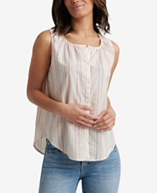 Lucky Brand Cotton Striped Sleeveless Shirt