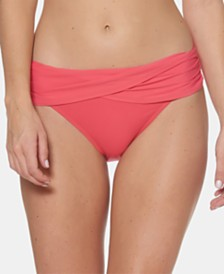 Bleu by Rod Beattie Fold-Over Sarong Hipster Bikini Bottoms