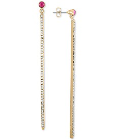 RACHEL Rachel Roy Gold-Tone Crystal Bar Linear Drop Earrings