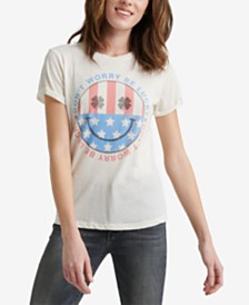 Lucky Brand Graphic Don't Worry Be Lucky T-Shirt