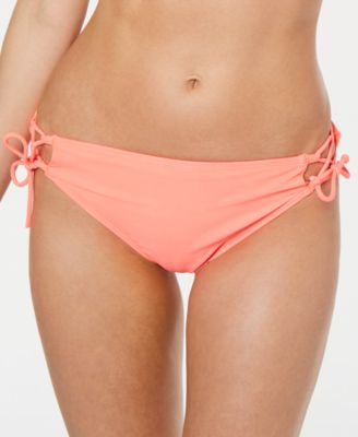 Juniors' Lace-Up Hipster Bikini Bottoms, Created for Macys