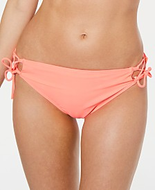 California Waves Juniors' Lace-Up Hipster Bikini Bottoms, Created for Macys