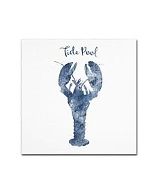 "Tina Lavoie 'Lobster Tide Pool' Canvas Art - 14"" x 14"" x 2"""