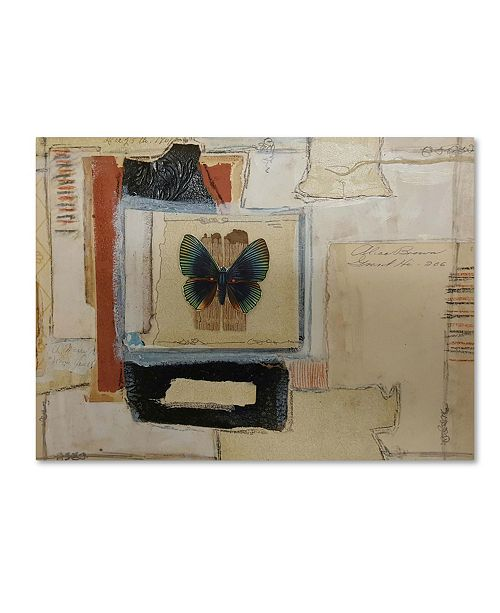 """Trademark Global Vintage Gypsy 'Paper Butterfly' Canvas Art - 32"""" x 24"""" x 2"""""""
