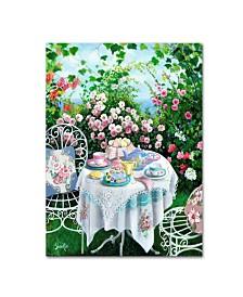 """Susan Rios 'Rose Garden Tea' Canvas Art - 19"""" x 14"""" x 2"""""""