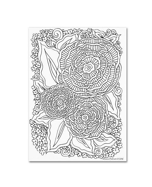 "Trademark Global Jessica Putnam 'Floral 41' Canvas Art - 32"" x 24"" x 2"""