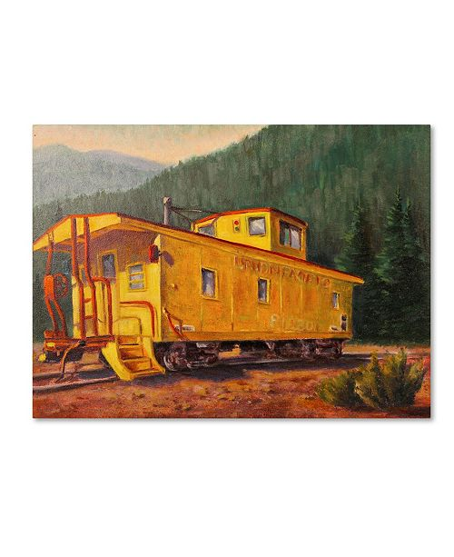 "Trademark Global Wanda Mumm 'Caboose' Canvas Art - 24"" x 18"" x 2"""