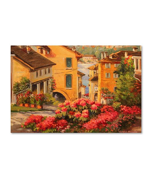 "Trademark Global Wanda Mumm 'Lake Orta Italy' Canvas Art - 47"" x 30"" x 2"""