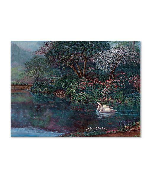 """Trademark Global Wanda Mumm 'Romance In The Garden' Canvas Art - 47"""" x 35"""" x 2"""""""