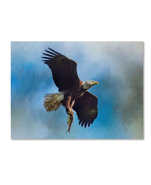 "Trademark Global Jai Johnson 'The Raptors Catch' Canvas Art - 19"" x 14"" x 2"""