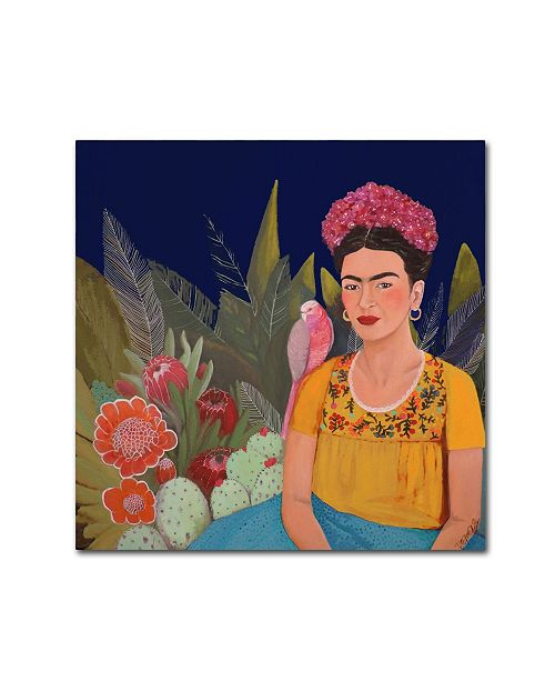 "Trademark Global Sylvie Demers 'Frida A Casa Azul Revisitated' Canvas Art - 35"" x 35"" x 2"""