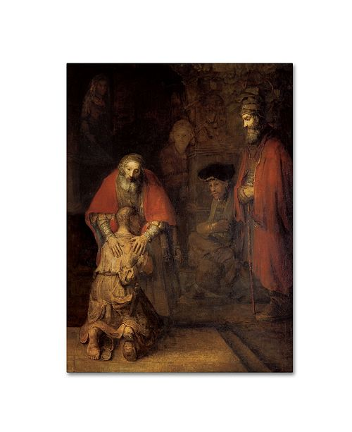 """Trademark Global Rembrandt 'Return of the Prodigal Son' Canvas Art - 24"""" x 18"""" x 2"""""""