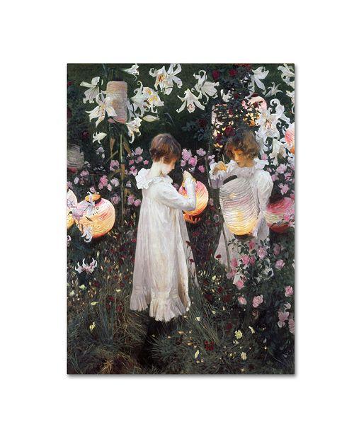 "Trademark Global John Singer Sargent 'Carnation Lily Rose' Canvas Art - 47"" x 35"" x 2"""