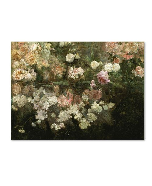 "Trademark Global Maria Oakey Dewing 'Garden In May' Canvas Art - 47"" x 35"" x 2"""