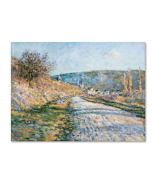 """Trademark Global Monet 'The Road To Vetheuil' Canvas Art - 24"""" x 18"""" x 2"""""""