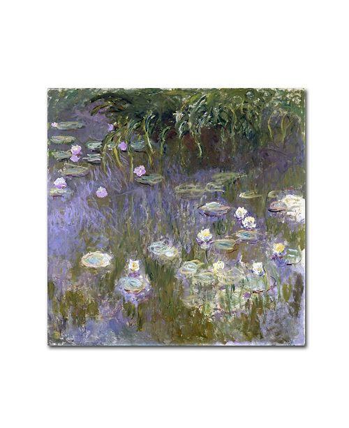 """Trademark Global Monet 'Water Lilies' Canvas Art - 35"""" x 35"""" x 2"""""""