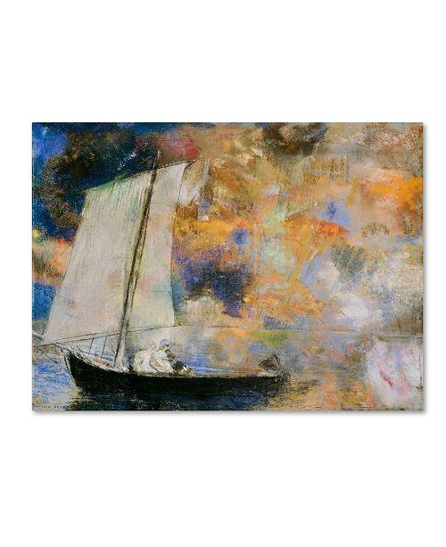 "Trademark Innovations Odilon Redon 'Flower Clouds' Canvas Art - 24"" x 18"" x 2"""