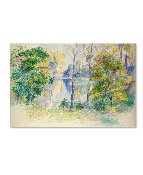 "Trademark Global Renoir 'View Of A Park' Canvas Art - 47"" x 30"" x 2"""