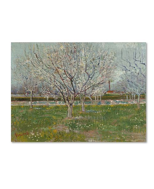 "Trademark Global Van Gogh 'Orchard In Blossom Plum Trees' Canvas Art - 32"" x 24"" x 2"""