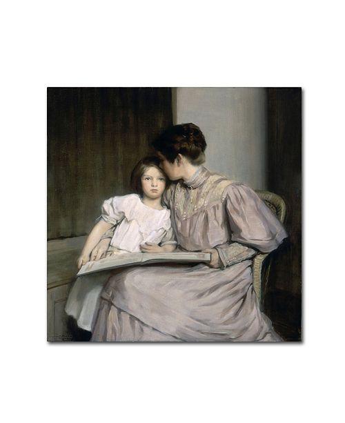 "Trademark Global William Sergeant Kendall 'An Interlude' Canvas Art - 35"" x 35"" x 2"""