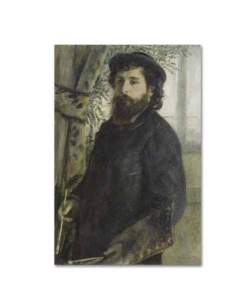 "Trademark Global Renoir 'Claude Monet' Canvas Art - 19"" x 12"" x 2"""