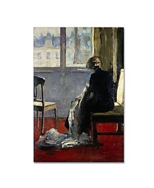 "Lesser Ury 'The Red Carpet' Canvas Art - 47"" x 30"" x 2"""