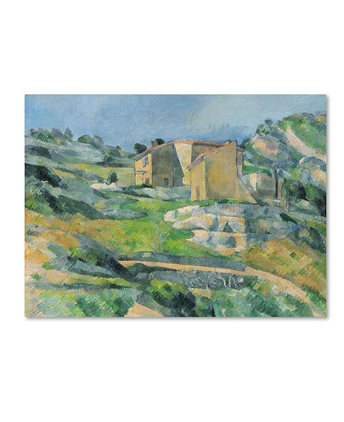 "Trademark Innovations Paul Cezanne 'Houses in the Provence 1833' Canvas Art - 19"" x 14"" x 2"""