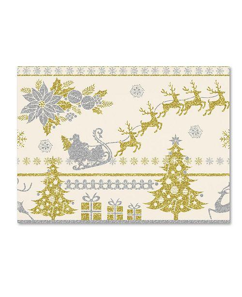 "Trademark Global Jean Plout 'Christmas Glitter 1' Canvas Art - 24"" x 18"" x 2"""